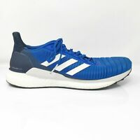 Adidas Mens Solar Glide 19 F34099 Blue Running Shoes Lace Up Low Top Size 10.5