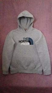 The North Face Boys Grey Hoodie Jumper Size XL Age 14-16 Years