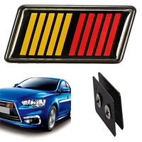 For RALLIART Lancer Evolution Red/Yellow/Black Car Front Grille Emblem Badge Hot