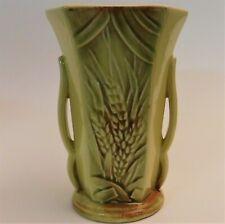 """McCoy PotteryUSA Wheat Vase Yellow Brown Green USA 8.5"""""""