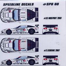 Speedline Decals Corvette C6R Fellows White car/tamiya