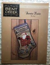 Santa Train Stocking by Bent Creek BC1109 With Button