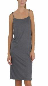 Long Solid Knit Basic Full Slip Dress with adjustable straps