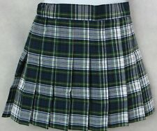 Chaps Girls Approved Schoolwear Skirt White Green Blue Uniform Sizes 4 5 6