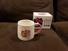 Hello Kitty Cafe Exclusive Sprinkles Bow Coffee Mug Sanrio Nib Wide Base