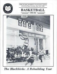 1985-86 Long Island Basketball Media Guide Program HC Paul Lizzo