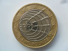 £2 UK COIN TWO POUNDS 2001 MARCONI RADIO 100 ANNIVERSARY WIRELESS BIMETALLIC