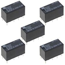 5 x Subminiature 5V Changeover Relay 2A DPDT