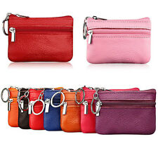 Soft Women's Card Coin Key Holder Zip Leather Wallet Pouch Change Bag Purse Case