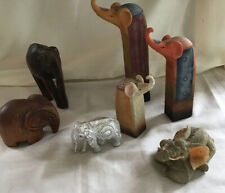 Job lot of 7 Elephant Decorative Ornaments, Pre Owned.