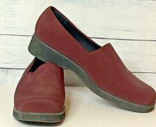 LL Bean Dark Burgundy Loafers Comfort Slip-On Shoes Ladies Sz. 11 Medium