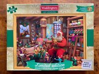 Waddington's Limited Edition Santa's Workshop 1000 Piece Jigsaw Puzzle COMPLETE