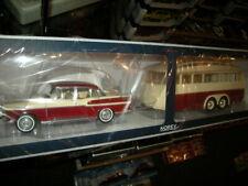 1:18 Norev Simca Vedette Chambord 1958 mit Caravane Henon Anhänger in OVP