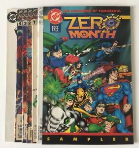 ZERO HOUR: Crisis In Time #0 1 2 3 4 + Ashcan-A & Zero Month (1994) DC Lot of 7