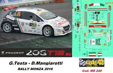 DECAL  1/43 - Peugeot  208 R5 - TESTA - Rally MONZA  2016 - DECAL