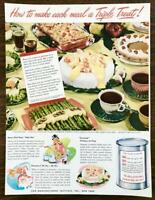 1947 Can Mfg Institute Canned Food Promo Ad How to Make Each Meal a Triple Treat