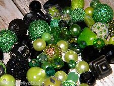 NEW 25 Jesse James beads mixed Green/Black randomly picked lot free shipping
