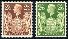 GB 1939-48 KGVI 2/6d Brown MNH & 2/6d Green Superb MNH SG 476/476c Cat £115