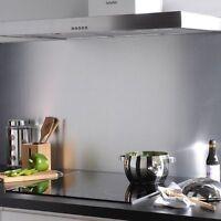Crédence de Cuisine Aluminium Anodisé nature (H 60 cm x L 60 cm) ép.1,5 mm