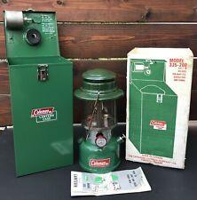 VTG COLEMAN LANTERN GREEN MODEL 335 11-71 NOV 1971 W BOX METAL CASE N/MINT COND