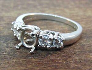 JEFF COOPER Platinum Diamond Engagement Ring Setting