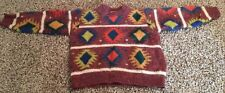 United Colors of Bennetton Children's M Shetland Wool Sweater Navajo Look