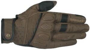 Alpinestars Crazy Eight Motorcycle Gloves Cafe Racer Vintage Summer Gloves