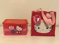 Hello Kitty Lunch Box Set Bento Box style with Felt Bag