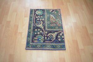 Turkish Door Mat,1.6x2,Antique Carpet,Vintage Old Rug,Oushak Rug,Tropical Rug.