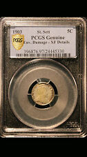 1903 Malaysia Straits Settlements 5 Cents PCGS Genuine XF