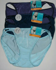 3 Vanity Fair String Bikini Panty Set Illumination 7 L 18108 Sexy Assorted Blue