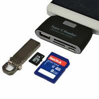 USB C 3.1 Type C to USB 3.0 OTG HUB Adapter & SD/TF Micro SD Memory Card Reader
