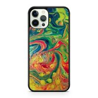 Swirly Wavy Colourful Oil Spill Colours Artistic Pattern Camo Phone Case Cover