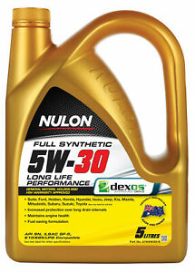 Nulon Full Synthetic Long Life Engine Oil 5W-30 5L SYN5W30-5