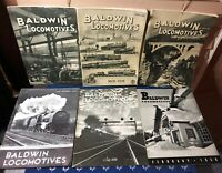 Lot of (6) 1930s BALDWIN LOCOMOTIVE Magazines AMAZING Railroad Photos History