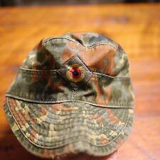 "Vintage West German Army Flecktarn Camo M-43 Military Uniform Cap Hat 57 22.5"""