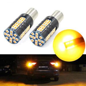 Amber 1156 Automotive Turn signal light No Load Resistor LED Bulb No Hyper Flash