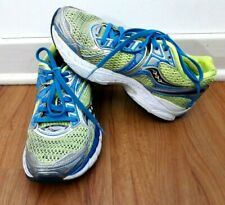 Saucony Triumph 9 Women's Running Training Shoes Size 5.5 Blue Neon Green Gray