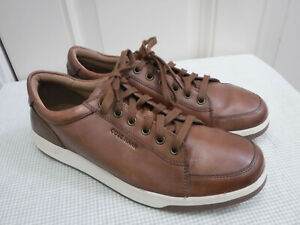 Men's COLE HAAN GRAND.05 9.5 M Brown Leather Lace Up Sneakers Oxfords Shoes Mint