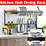 85CM Over Sink Dish Drying Rack Drainer Stainless Steel Kitchen Cutlery Shelf