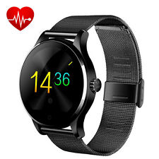 Lemfo Relojes Inteligentes Bluetooth 2.5D K88H Podómetro para Android IOS Negro