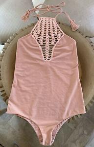 Acacia Women/'s Swimwear One-Piece Beige Swimsuit Size S NWT Was $200