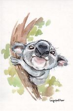 RARE Koala bear on the tree by Inga Paltser Russian modern postcard
