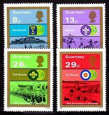Guernsey - 1982 75 years scouting - Mi. 251-54 MNH