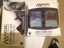 2015 M T G CORE 2 PLAYER SET CLASH PACK &  BUILDER TOOL KIT BOX FACT SEALD