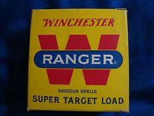 Vintage Winchester Western Ranger Super Target Shotgun Shells 12 GA Ammo Box #32