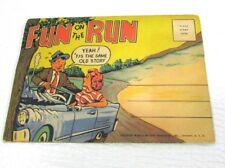 Fold Out Postcard Fun On The Run 1953 Humorous & Black Memorabilia