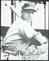 Enos Slaughter signed autograph 8x10 photo Baseball Hall of Fame PSA/DNA Cert