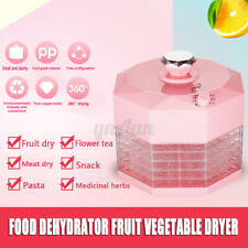 220V Mini Food Dehydrator Fruit Vegetable Herb Meat Drying Machine 5 Trays