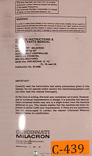 Cincinnati Milacron 2MK, Milling Machine, Operators Instructions Manual 1975